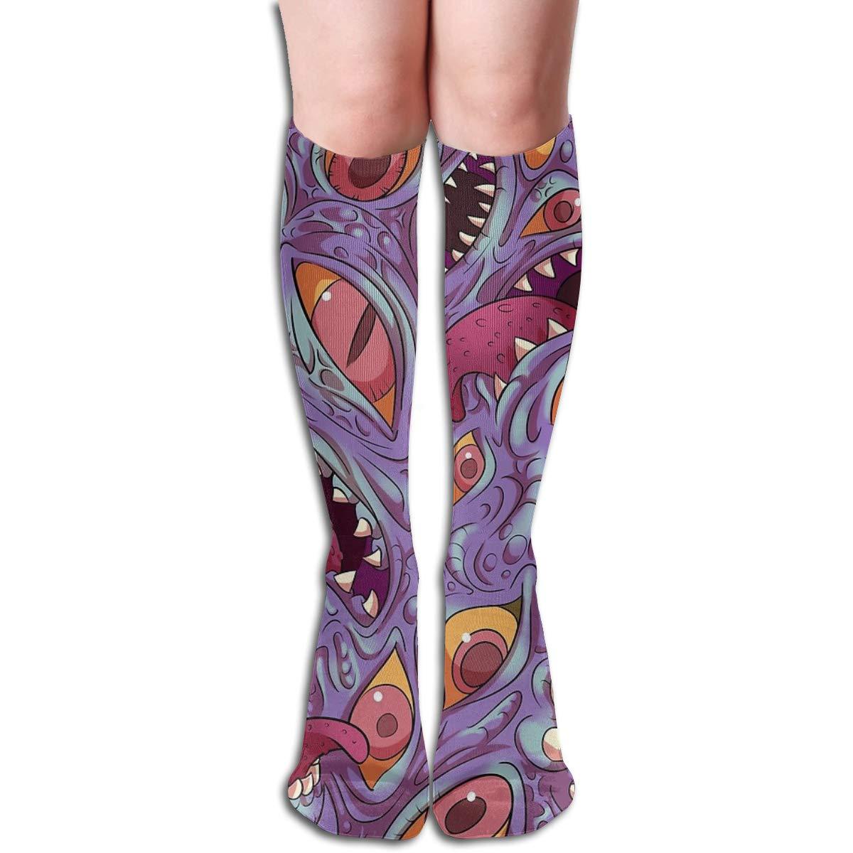 Lovecraftian Pattern Compression Socks Soccer Socks High Socks For Running,Medical,Athletic,Edema,Varicose Veins,Travel,Nursing.