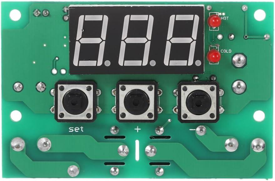 2/canaux relais Output alarme de temp/érature haute//basse KKmoon 12/V Thermostat automatique r/égulateur de temp/érature Module