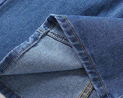 Donna Unita Di Minigonna A Semplice Blu Jeans PengGeng Gonna Vita Marino Tinta Alta fZgOdqq
