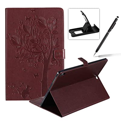 Flip Case for 2020 iPad Pro 12.9 Smart Leather Cover,Herzzer Retro Pretty Tree Butterfly Cat Design Wallet Folio Case for iPad Pro 12.9 (2020 Release,3rd Generation)+Phone Kickstand+Stylus Pen,Brown: Musical Instruments