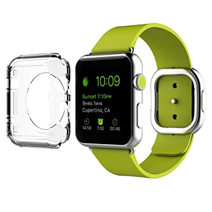 new product 9376f 91a7b Apple Watch Case 42mm, LUVVITT [Cristal] Full Body Clear Hard Case with  Tempered Screen Protector for Apple Watch/Watch Sport/Watch Edition 42 mm