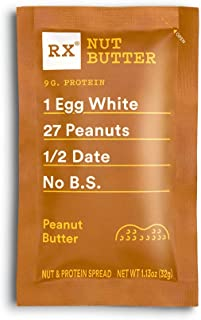 product image for RX Nut Butter, Peanut Butter, 10 Count, Keto Snack, Gluten Free
