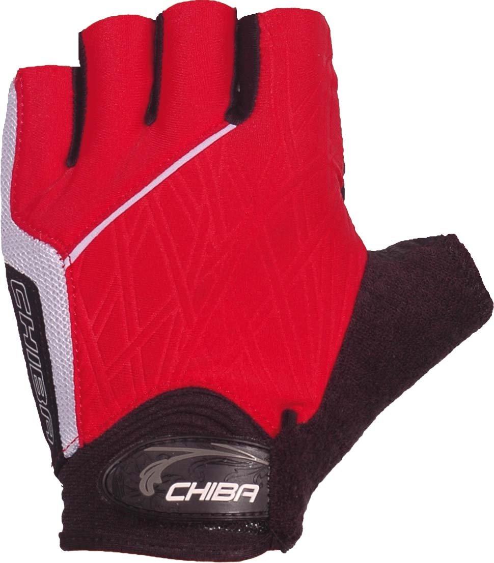 Chiba Bamboo Damen Kurzfinger-Handschuh Fahrrad Handschuhe kurz mit BioGel Polsterung