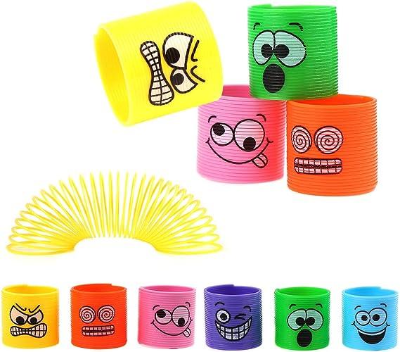 premio de carnaval 24 surtidos Emoji Smiley Springs Slinky Mini Smiley Spring Juguete para fiesta Favor