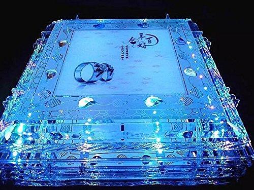 BGmdjcf Stylish Crystal Round Led Ceiling Light Rectangular ,50Cm50Cm Ordinary ,120 Color