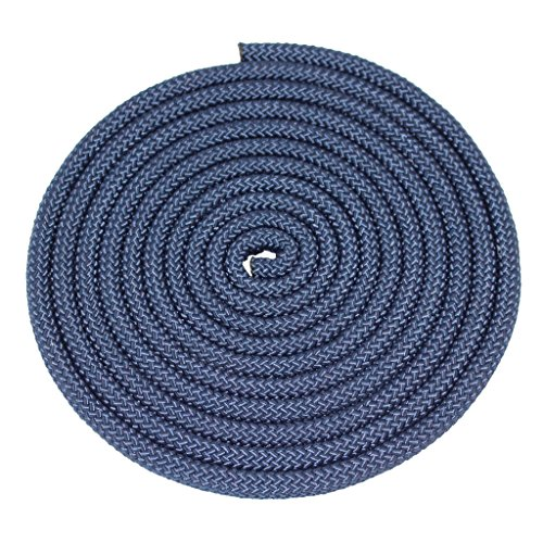 Nylon Rope Utility Rope (5/8 inch) - SGT KNOTS - Polypropylene Sheath - Moisture & Mildew Resistant - for Crafts, Cargo, Tie-Downs, Marine, Camping, Swings (100 ft - Navy Blue) by SGT KNOTS (Image #1)