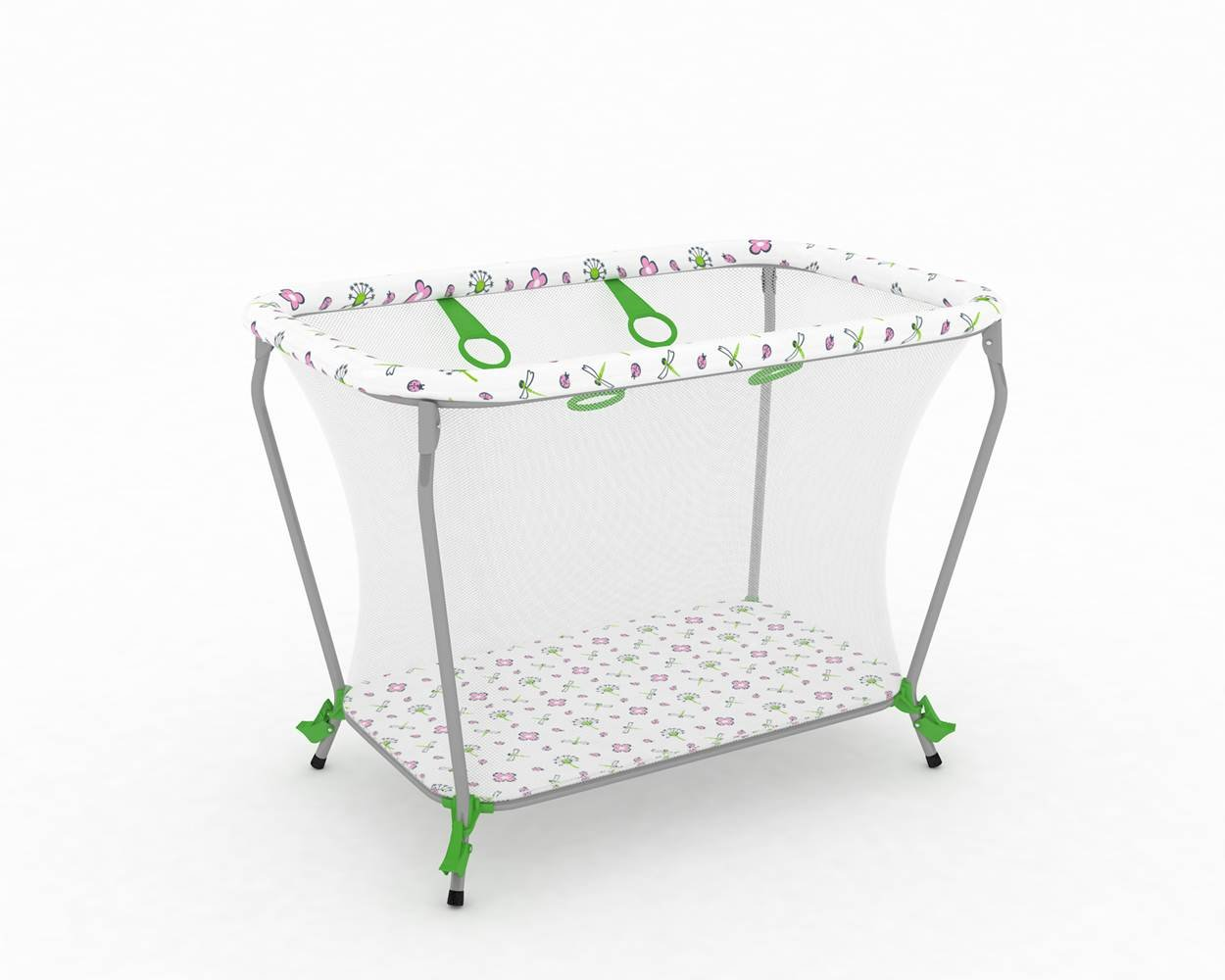 POLINI Kids/Playpen Travel cot Classic Portable/Foldable Green, 1356/4