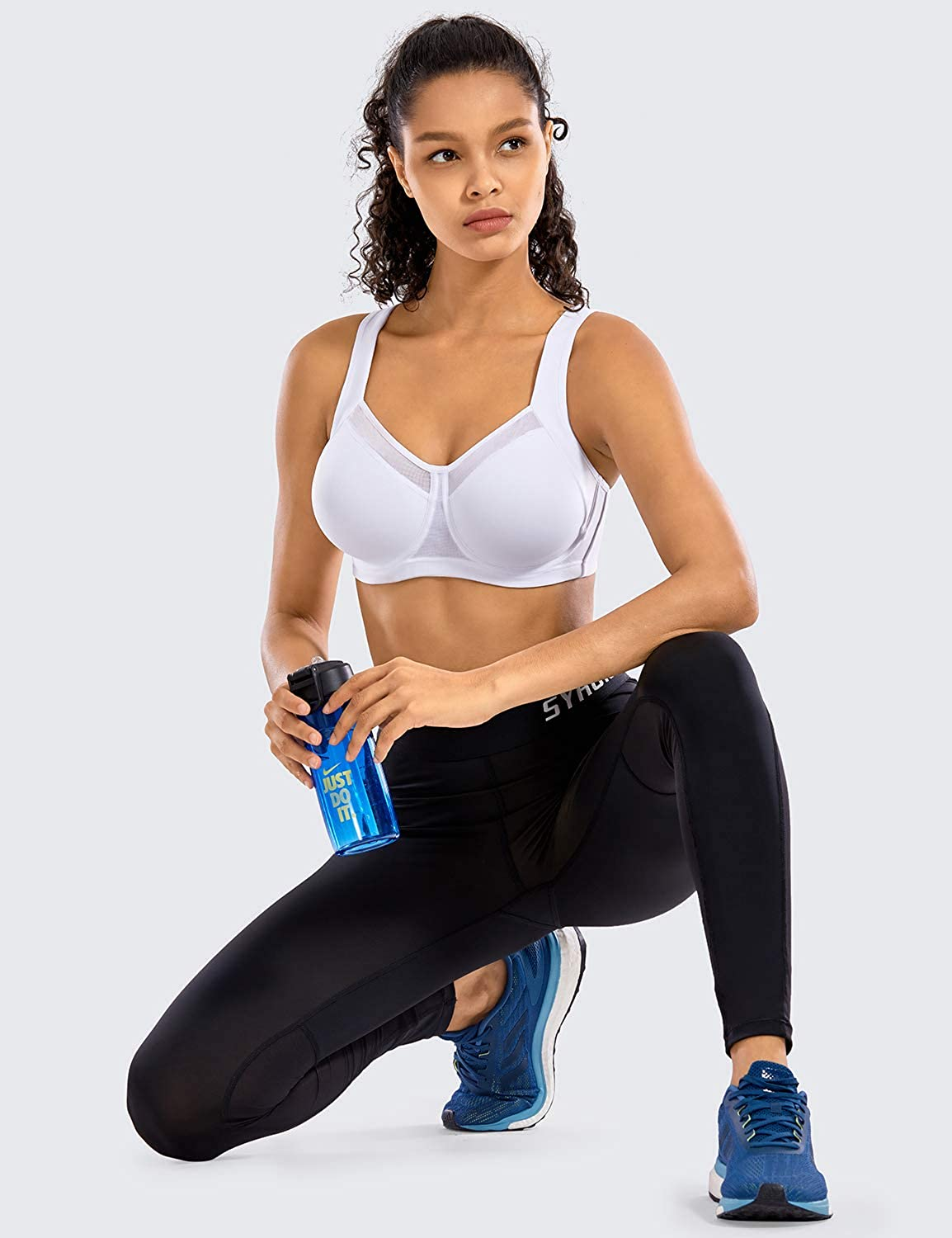 SYROKAN Women's High Impact Workout Running Powerback Support Underwire Sports Bra at  Women's Clothing store