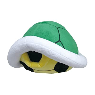 "Little Buddy USA Super Mario Series 15"" Green Koopa Shell Pillow Plush: Toys & Games"