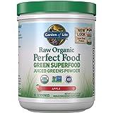 Garden of Life Raw Organic Perfect Food Green Superfood Juiced Greens Powder - Apple, 30 Servings (Packaging May Vary) - Vega