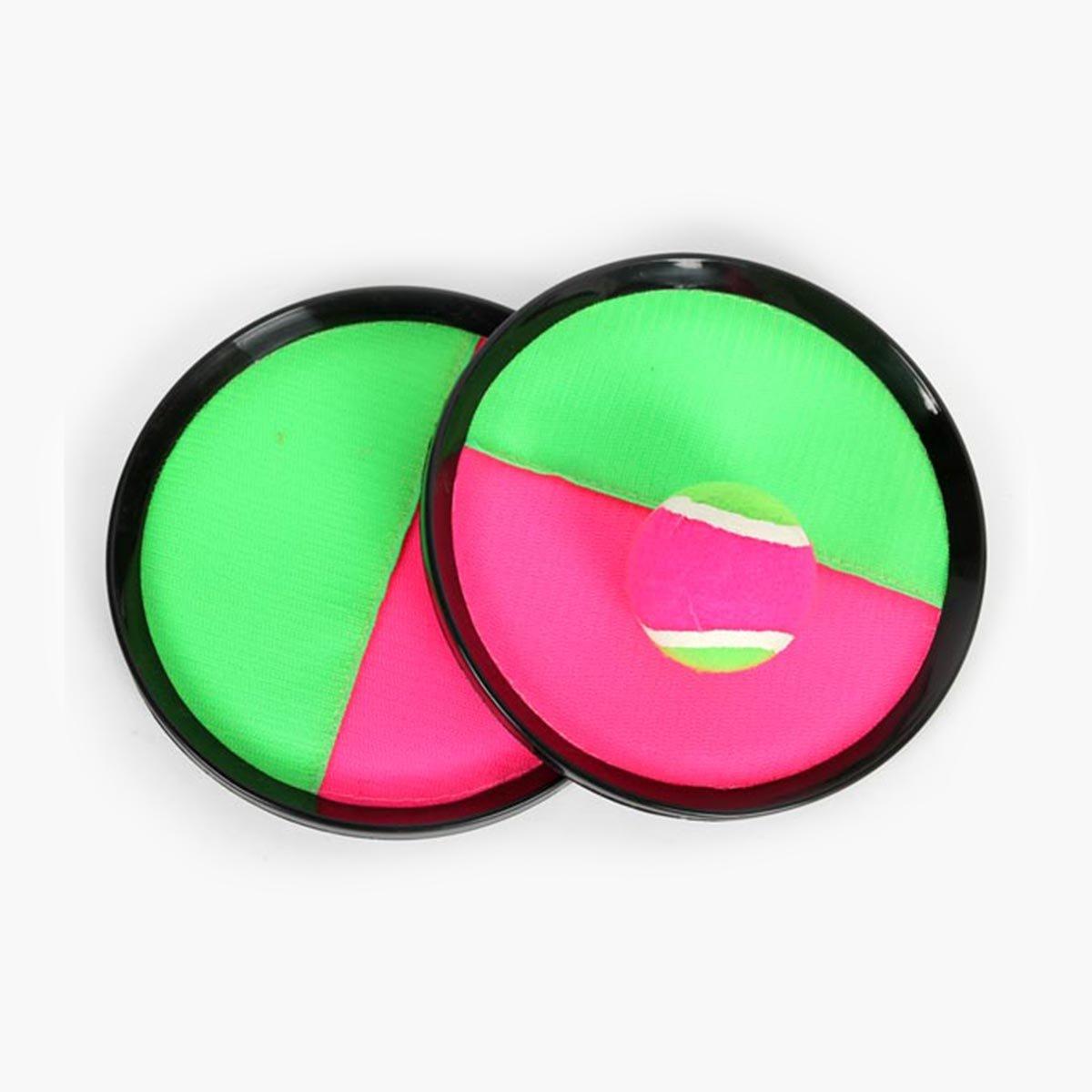 TOYANDONA Les Enfants attrapent Le Jeu réglable de pagaies et de disques de Jeu de disques réglables avec des Jouets de Jeux extérieurs/intérieurs jettent Le Jeu de Jouets de mandrin