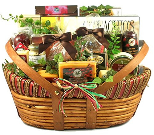 The Ultimate Gift Basket | Meat, Cheese, Crackers, Nuts, Cookies and More