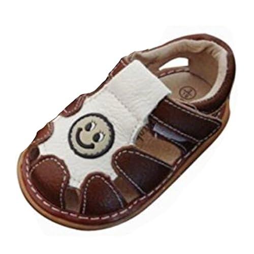 410b91154e213 OHmais Enfants Chaussure Bebe Garcon Premier Pas Chaussure Premier Pas bébé  Sandale en Cuir Souple  Amazon.fr  Chaussures et Sacs