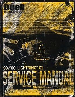 1999 2000 buell lightning x1 service manual buell distribution rh amazon com buell x1 repair manual 99 buell x1 service manual