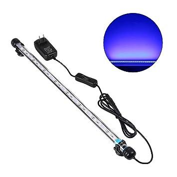 UEETEK 48CM Lámpara LED para acuario, iluminación de tanque de pescado 5050 SMD RGB barra