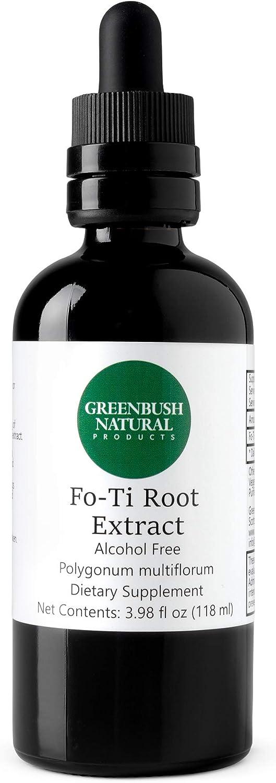 Greenbush Fo-ti (He Shou Wu)| 4 oz Liquid Extract, 240 Doses | Stamina Boost and Rejuvenation