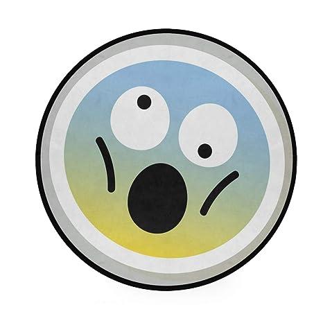 Alfombra redonda con diseño de emoticono de Emoji ...