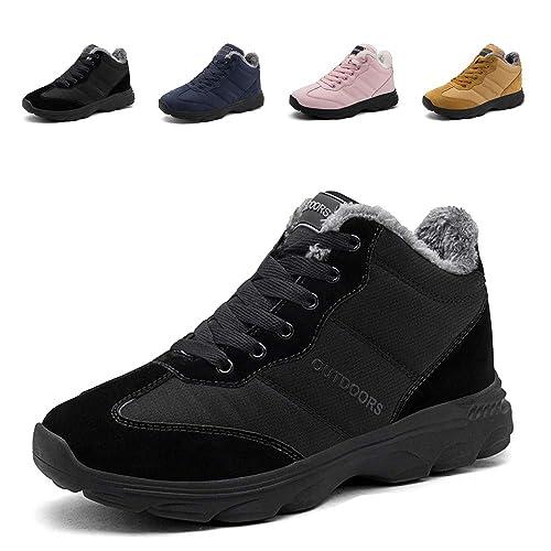 Hiver Chaussures Homme Femme Bottes Neige Randonnee Chaudement Chaudes  Fourrure Baskets Bottines Outdoor Boots Sneakers 36 bd481445e309