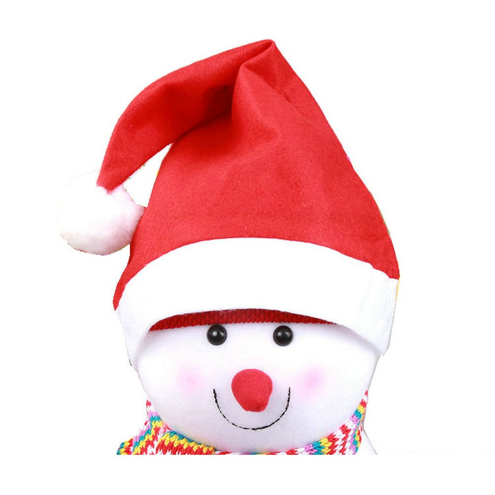Ayygift Christmas Non-woven Santa Hat Party Costumes for Adult / Kids (12-Pack)