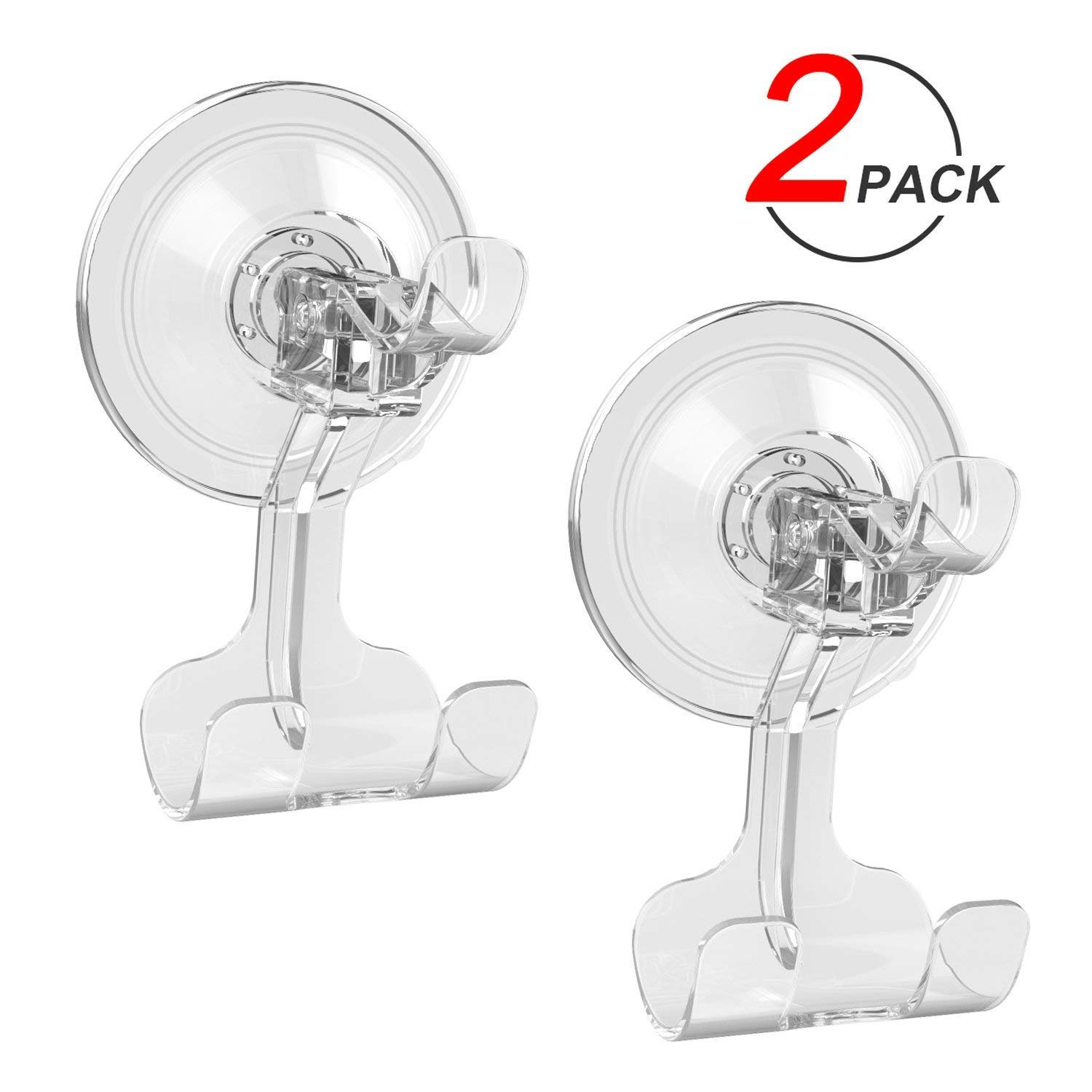 Suction Cup Hooks, Ulinek Heavy Duty 6 Pack Bathroom Kitchen Shower Wall Door Window Glass Suckers for Hanging Coat Key Towel Tool Robe Hat Handbag Removable Hanger Holder Large Powerful Lock, Max 5KG