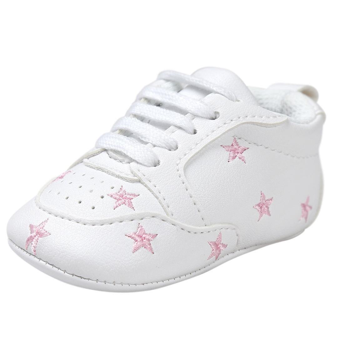 BZLine® PU Cuir Chaussures au Lacets, à Motif des Étoiles Bébés Filles 0-18Mois BZL-01