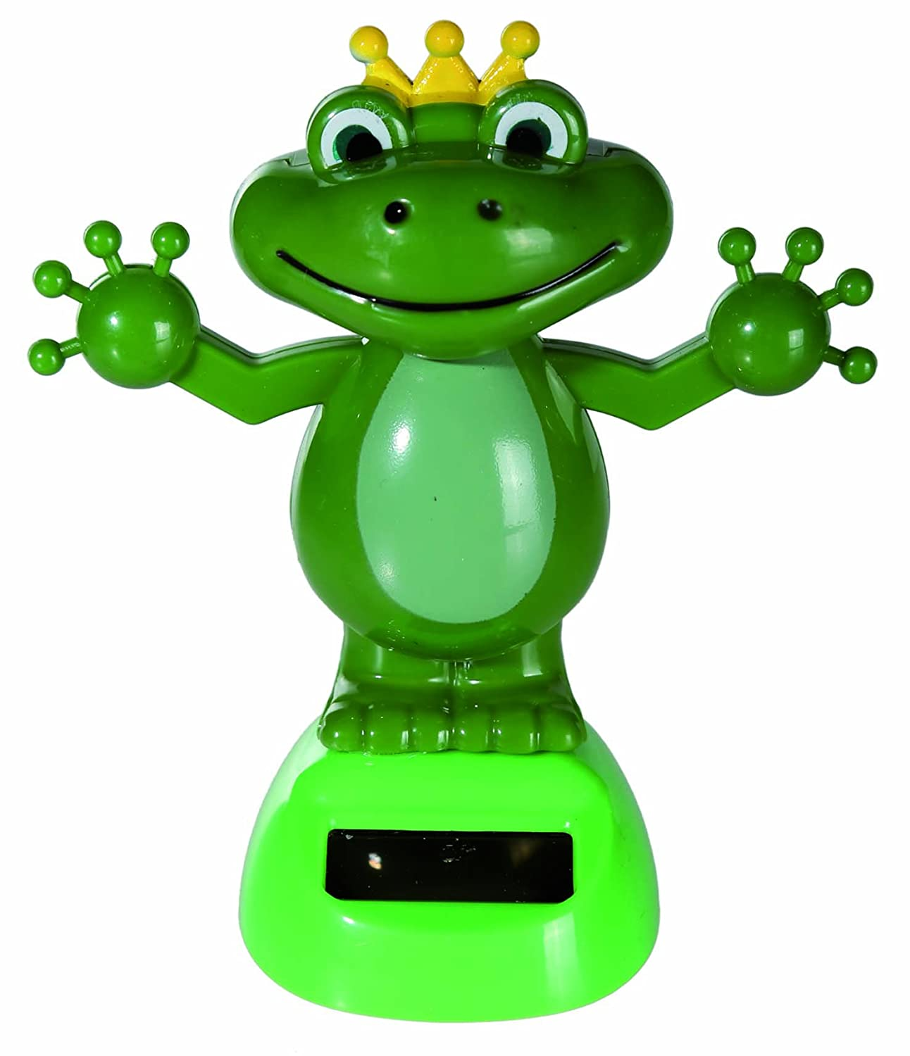 Good Value Retro Desktop Toys Solar Powered Dancing Moving Frog With Crown Figurine - Girl Girls Children Kids - Ideal For Birthdays, Easter, Christmas, Xmas, Stocking Fillers Fun Present Gift Age 5+ - One Supplied Kenzies Gifts