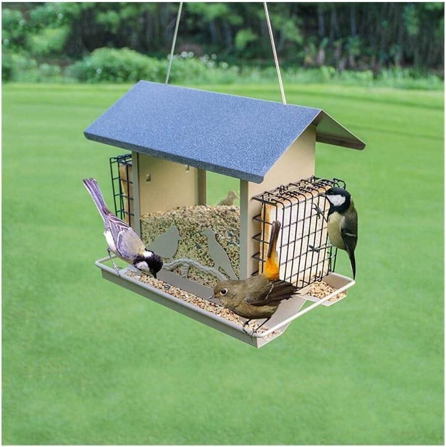 7°MR casa pajaros Comedero for pájaros balcón Exterior jardín casa Impermeable alimentación automática comedero alimentación Suministros for pájaros: Amazon.es: Jardín