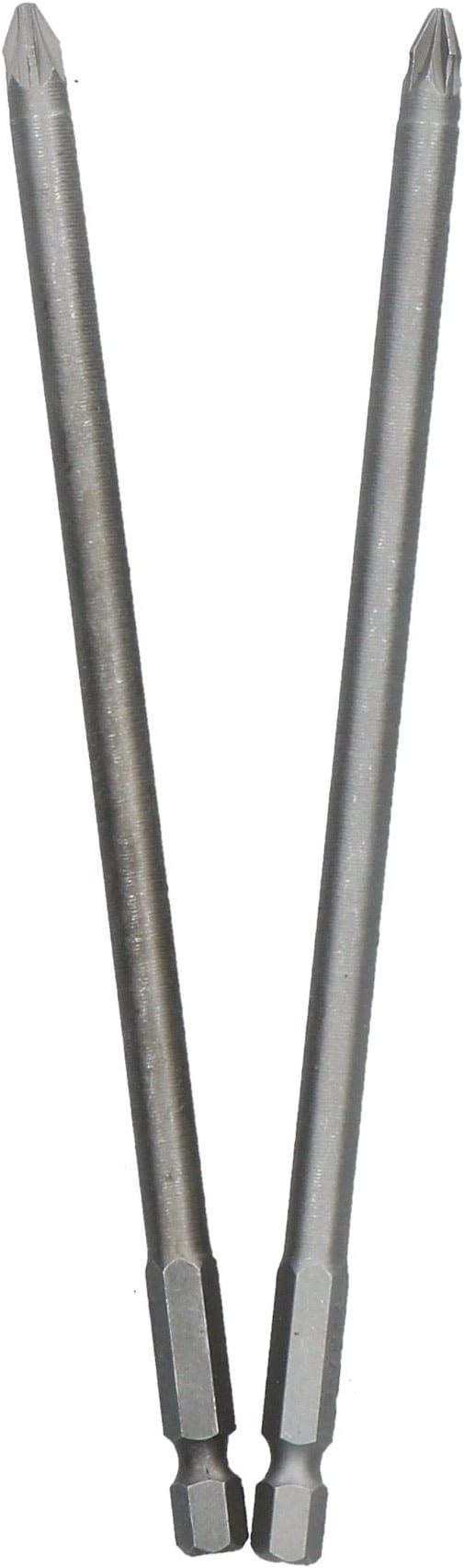 Blue Spot 2Pce Extra Long Shank PZ2 Screwdriver Bit Set 150mm Total Length