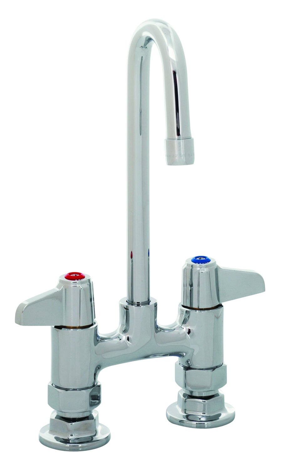 T&S Brass 5F-4DLX03 Deck Mount Faucet with 4-Inch Centers and 3-Inch Rigid Gooseneck by T&S Brass B007L4OPYA