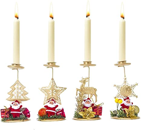 Christmas Candle Holder Handmade Candlestick Christmass Tree Candlestick Candle Holder