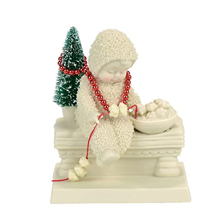 Department 56 Snowbabies Dressing the Tree Porcelain Figurine, 4.33