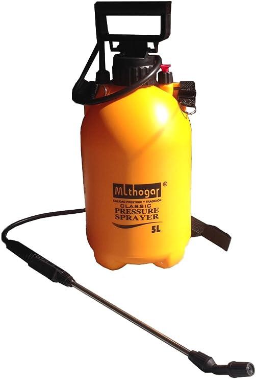 Fumigador manual 5 L | Pulverizador a presión | Fumigador pulverizador manual 5 litros | Mochila pulverizador con lanza | Pulverizador de mochila | Pulverizador de presión con 5 litros de capacidad: Amazon.es: Jardín