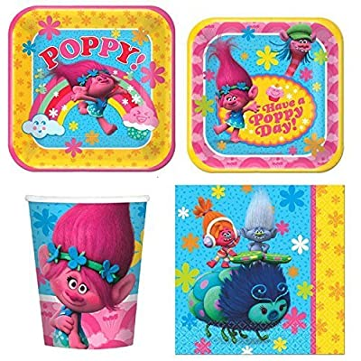 Trolls Party Express Pack for 8 Guests (Cups Napkins & Plates): Toys & Games
