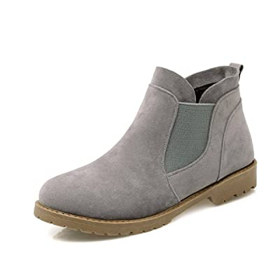 Automne Hiver Femmes Femmes Cheville Bottes Chaussures À La Mode Rétro Loisirs Grande Taille 35-42