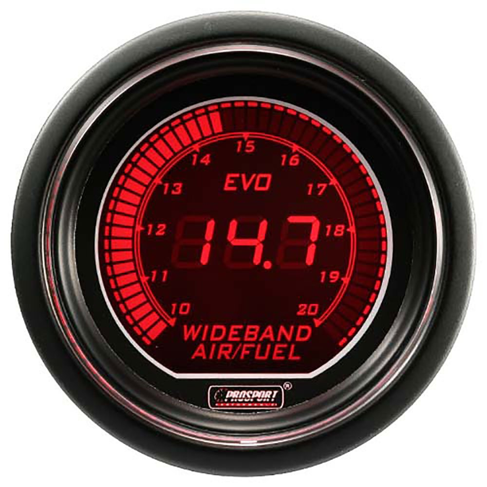 Wideband Digital Air Fuel Ratio Kit Blue/Red EVO Series 52mm (2 1/16') Prosport Performance 216EVOAFRWB4.9-WO