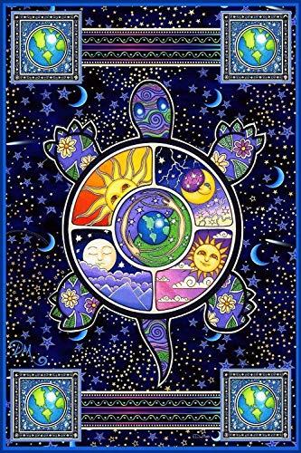(Earth Turtle Vertical Tapestry Terrapin by Dan Morris, 40x60)
