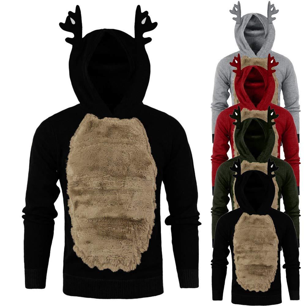 Sudadera con Capucha Hombre, YiYLunneo Sweatshirts Man Pullover Hombre Camiseta Manga Larga Invierno para Tops: Amazon.es: Ropa y accesorios