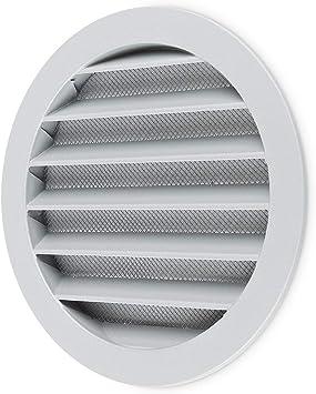 Klimapartner WSGG 160 - Rejilla de Ventilación Redonda Gris Aluminio: Amazon.es: Bricolaje y herramientas