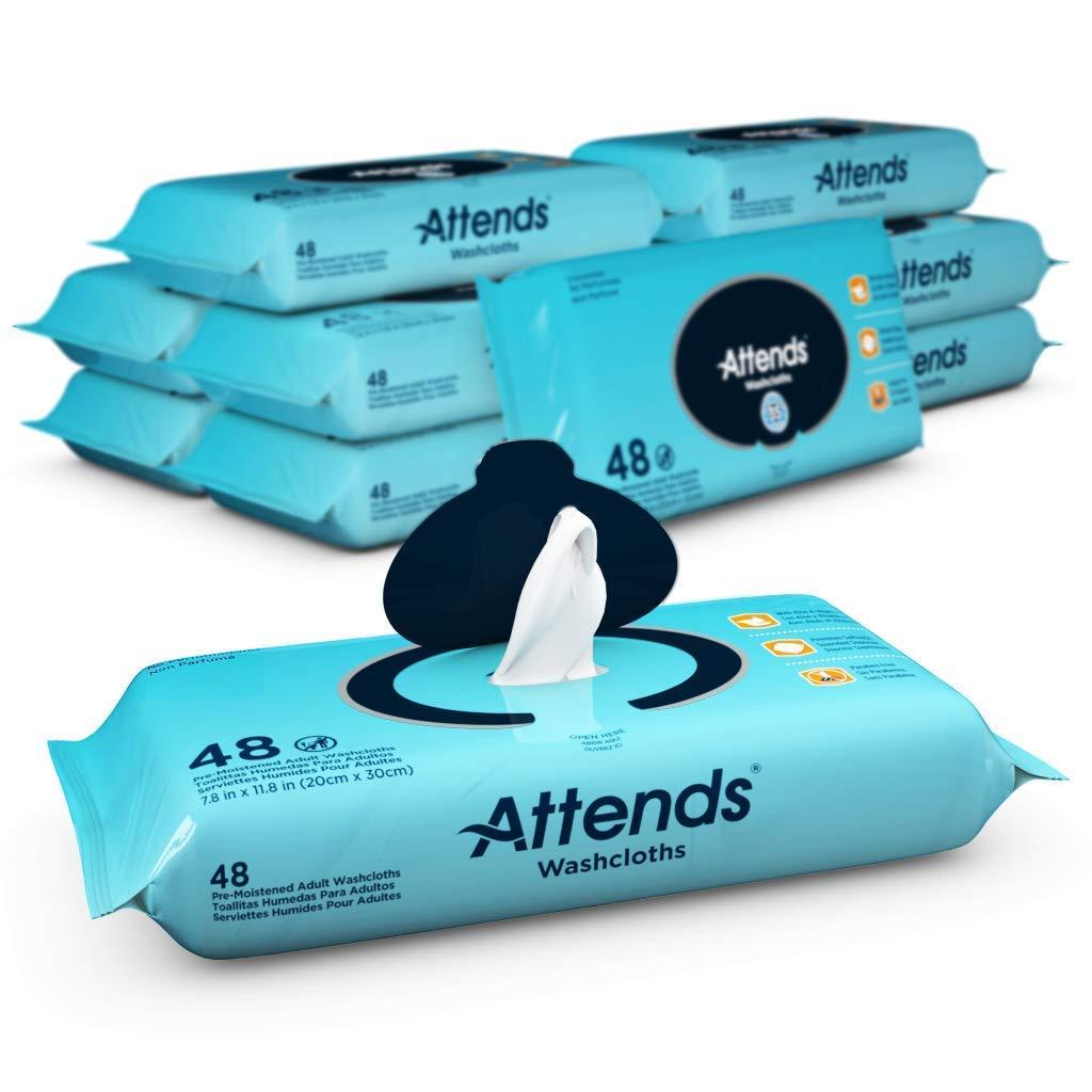 ATTENDS Personal Wipe Attends 8.7 X 12.6'' Soft Pack Aloe (#WCU48, Sold Per Case) by Attends