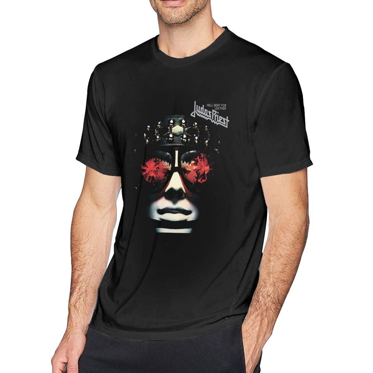 Catherine B Rosa Judas Priest Killing Machine Music Theme Sports Men's Short Sleeve T-Shirt