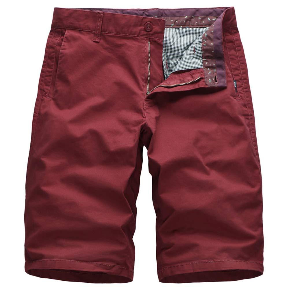 GBRALX Herren Baumwolle Strand Shorts Beiläufige Lose Reine Farbe Leichte Militärische Art Hose Strand Surf Urlaub Im Freien Arbeit Fracht Kampf Shorts