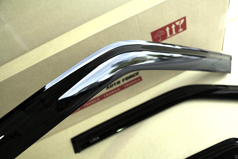 AC WOW 4x Wind Deflectors Compatible with V W Passat B6 B7 Sedan 4-door 2004 2005 2006 2007 2008 2009 2010 2011 2012 2013 2014 2015 Acrylic Glass WeatherShields Visors