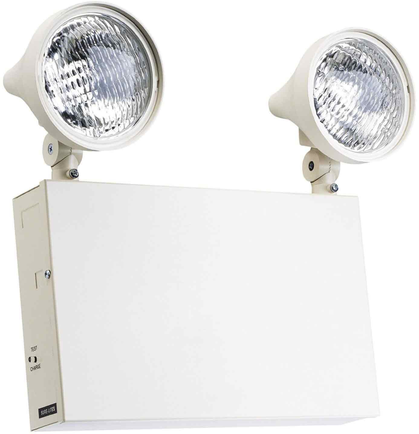 Sure lites xr12206 12 volt commercial steel emergency light with 9 sure lites xr12206 12 volt commercial steel emergency light with 9 watt incandescent lamps and 18 watt remote capacity white incandescent bulbs amazon asfbconference2016 Images