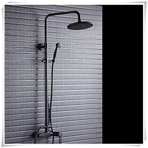 ZXYeuropean pleine de cuivre noir douche bain ou douche main douche douche douche robinet