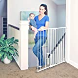 """Toddleroo by North States 47.85"""" wide Tall Easy Swing & Lock Gate: Ideal for standard stairways. Hardware mount. Fits openings 28.68"""" - 47.85"""" wide (36"""" Tall, Soft White)"""