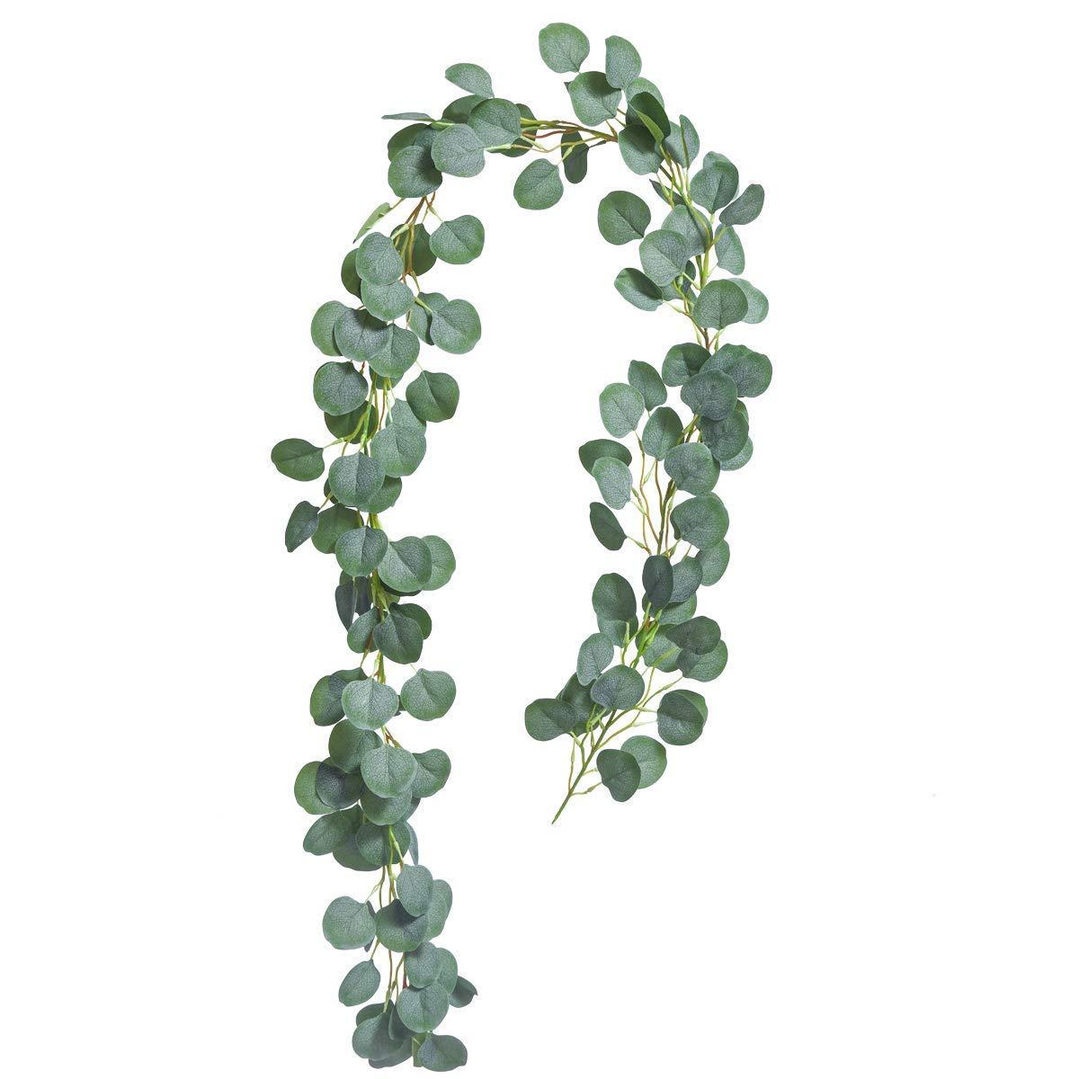 Guirnalda de eucalipto Artificial de Seda sint/ética para decoraci/ón de Pared Ksnrang