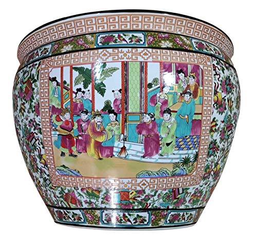 - Rose Medallion Porcelain Fishbowl 14