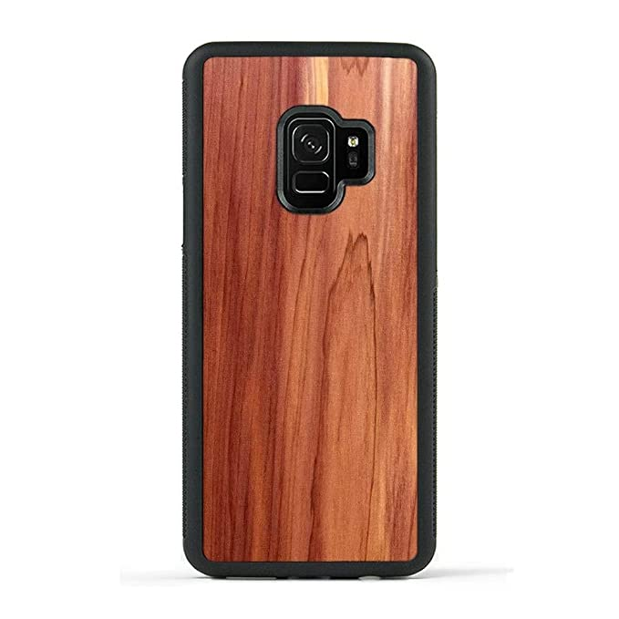 separation shoes c89f2 872f7 Carved | Samsung Galaxy S9 | Luxury Protective Traveler Case | Unique Real  Wooden Phone Cover | Rubber Bumper | Eastern Red Cedar