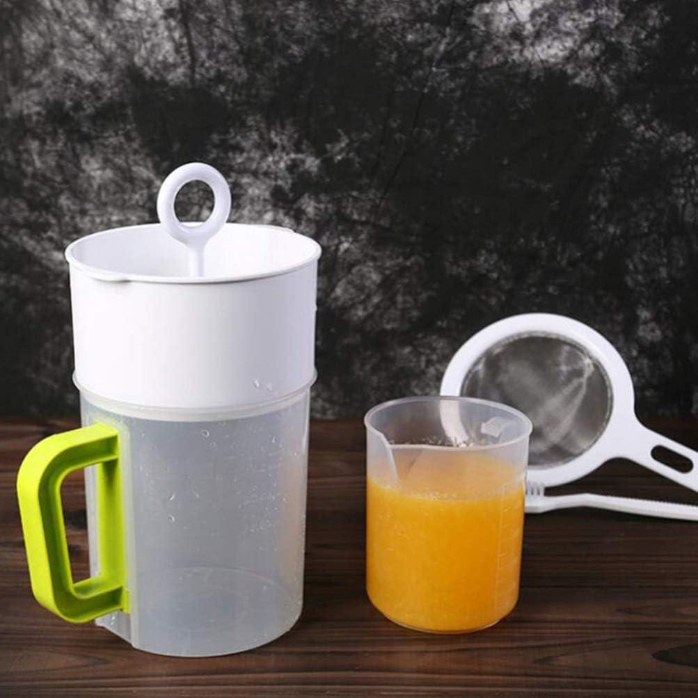 5L Cabilock Colador de Alimentos de Uso M/últiple Leche de Nuez Jugo de Leche de Soja Taza de Filtro de T/é Colador de Yogur para La Cocina Casera 1
