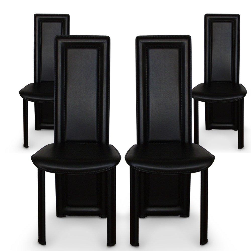 chaise noire pas cher. Black Bedroom Furniture Sets. Home Design Ideas